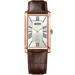 Hugo Boss Mens Admiral Rose Gold Plated Strap Watch 1513436
