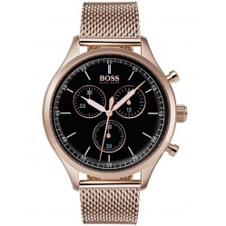 BOSS Mens Companion Chronograph Rose Bracelet Watch 1513548