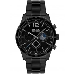 BOSS Mens The Professional Chronograph Black Bracelet Watch 1513528