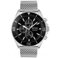BOSS Mens Ocean Edition Chronograph Mesh Bracelet Watch 1513701