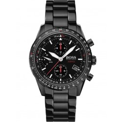 BOSS Mens Aero Black Chronograph Dial Bracelet Watch 1513771