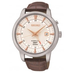 Seiko Mens Brown Kinetic Watch SUN035P1