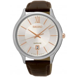 Seiko Mens Brown Watch SGEH55P1