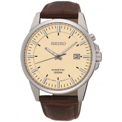 Seiko Mens Kinetic Cream Watch SKA733P1