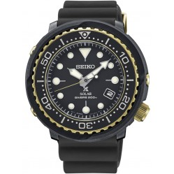 Seiko Prospex Divers Solar Black Rubber Strap Watch SNE498P1