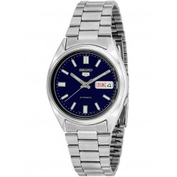 Seiko Mens Stainless Steel Blue Dial Watch SNXS77K1