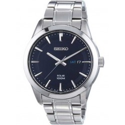 Seiko Mens Discover More Solar Blue Bracelet Watch SNE361P1
