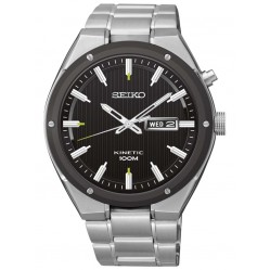 Seiko Mens Steel Kinetic Watch SMY151P1