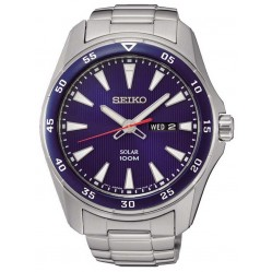 Seiko Mens Discover More Solar Blue Bracelet Watch SNE391P1