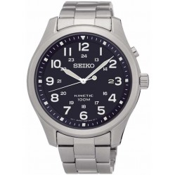 Seiko Discover More Kinetic Black Bracelet Watch SKA721P1