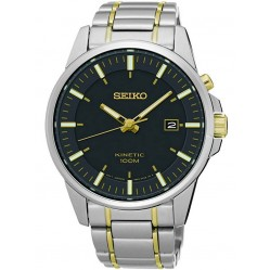 Seiko Discover More Kinetic Two Tone Bracelet Watch SKA735P1