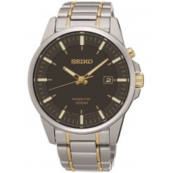 Seiko Mens Two Tone Kinetic Watch SKA735P1