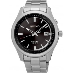Seiko Mens Discover More Kinetic Black Bracelet Watch SKA719P1