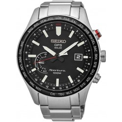 Seiko Mens Black Discover More Watch SSF003J1