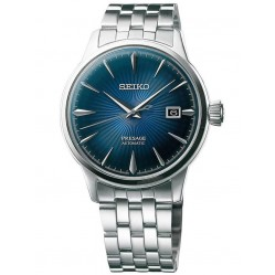 Seiko Mens Presage Automatic Blue Bracelet Watch SRPB41J1