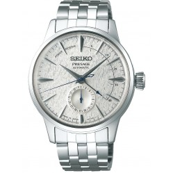 Seiko Mens Presage Limited Edition Power Reserve Fuyugeshiki Winter Dial Bracelet Watch SSA385J1