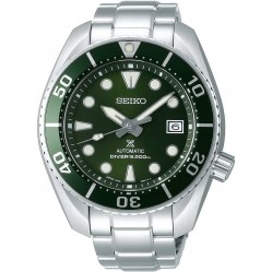 Seiko Mens Prospex Automatic Divers Green Dial Bracelet Watch SPB103J1