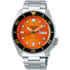Seiko Mens 5 Sports Automatic Orange Bracelet Watch SRPD59K1