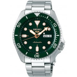 Seiko Mens 5 Sports Automatic Green Bracelet Watch SRPD63K1