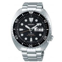 Seiko Mens Prospex Automatic King Turtle Diver Black Dial Stainless Steel Bracelet Watch SRPE03K1