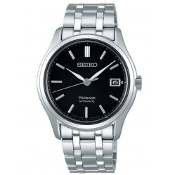 Seiko Mens Presage Automatic Japanese Garden Black Dial Stainless Steel Bracelet Watch SRPD99J1