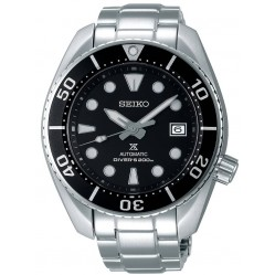 Seiko Mens Prospex Automatic Sumo Black Dial Stainless Steel Bracelet Watch SPB101J1