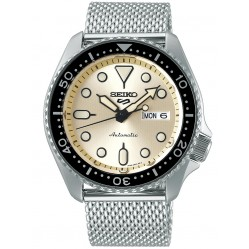 Seiko Mens 5 Sports Mesh Watch SRPE75K1