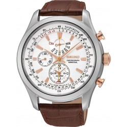 Seiko Mens Chronograph Strap Watch SPC129P1
