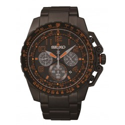 Seiko Men's Prospex Black Solar Powered Watch SSC277P9