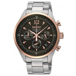 Seiko Mens Stainless Steel Chronograph Watch SSB068P1
