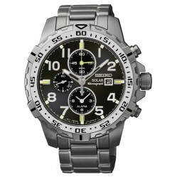 Seiko Mens Solar Chronograph Watch SSC307P9