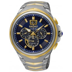 Seiko Mens Coutura Solar Chronograph Two Tone Bracelet Watch SSC642P1