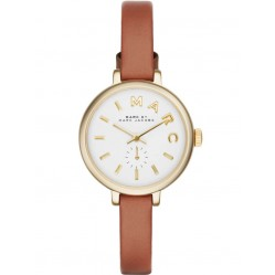Marc Jacobs Gold Plated Brown Strap Watch MBM1351