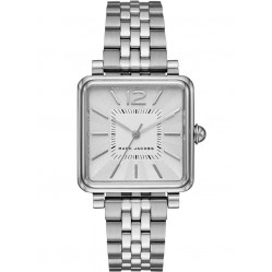 Marc Jacobs Ladies Vic Silver Square Watch MJ3461