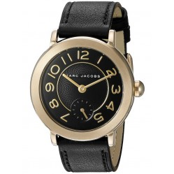 Marc Jacob Ladies Riley Gold Plated Strap Watch MJ1471