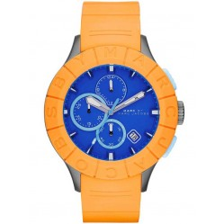 Marc Jacobs Mens Buzz Track Blue Dial Orange Strap Watch MBM5545