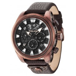 Police Mens Mephisto Brown Strap Watch 14473JSQBZ-02