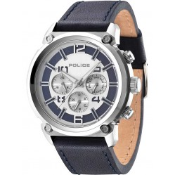 Police Mens Armor Leather Strap Watch 14378JS-04