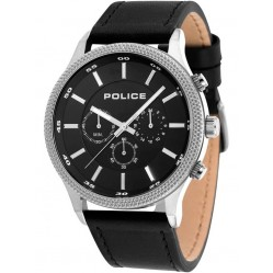 Police Mens Black Pace Watch 15002JS/02