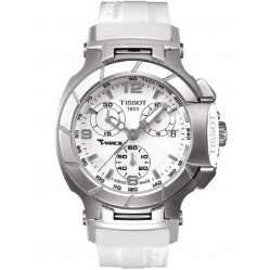 Tissot Ladies T-Race White Chronograph Watch T048.217.17.017.00