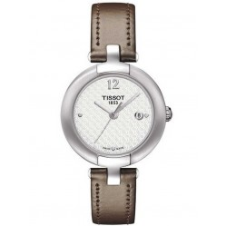 Tissot T-Lady Pinky Leather Strap Watch T084.210.16.017.01