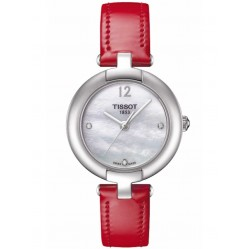 Tissot T-Lady Pinky Red Strap Watch T084.210.16.116.00
