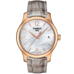 Tissot Ladies Tradition Mother Of Pearl Strap Watch T063.210.37.117.00