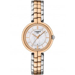 Tissot T-Lady Flamingo Two Tone Watch T094.210.22.111.00