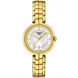 Tissot Ladies Flamingo Gold Plated Watch T094.210.33.111.00