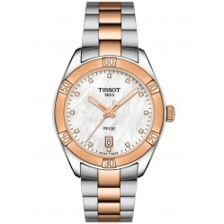 Tissot Ladies PR100 Sport Chic Pearl Watch T101.910.22.116.00