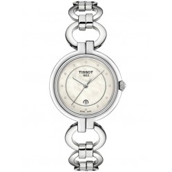 Tissot Ladies T-Lady Flamingo Diamond Pearl Watch T094.210.11.116.00