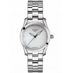 Tissot Ladies T-Wave Diamond Silver Bracelet Watch T112.210.11.036.00
