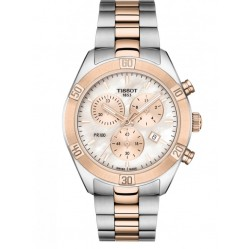 Tissot Ladies T-Classic PR-100 Sport Chic Chronograph Two-Tone Bracelet Watch T101.917.22.151.00