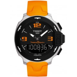 Tissot Unisex T-Race Orange Strap Watch T081.420.17.057.02
